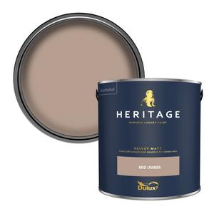 Dulux Heritage Matt Emulsion Paint - Mid Umber - 2.5L