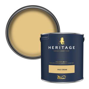 Dulux Heritage Matt Emulsion Paint - Pale Cream - 2.5L