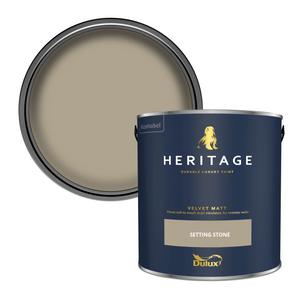Dulux Heritage Matt Emulsion Paint - Setting Stone - 2.5L