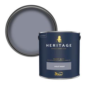 Dulux Heritage Matt Emulsion Paint - Violet Night - 2.5L