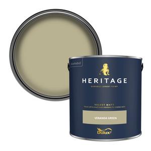 Dulux Heritage Matt Emulsion Paint - Veranda Green - 2.5L