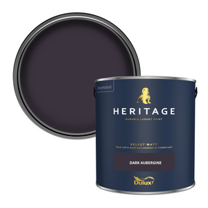 Dulux Heritage Matt Emulsion Paint - Dark Aubergine - 2.5L