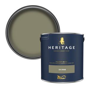 Dulux Heritage Matt Emulsion Paint - DH Drab - 2.5L