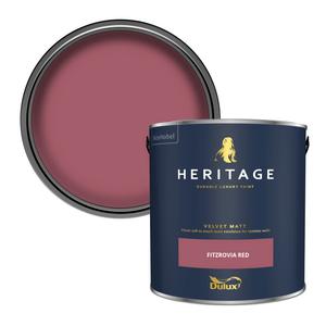 Dulux Heritage Matt Emulsion Paint - Fitzrovia Red - 2.5L