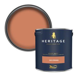 Dulux Heritage Matt Emulsion Paint - Inca Orange - 2.5L
