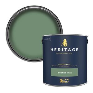 Dulux Heritage Matt Emulsion Paint - DH Grass Green - 2.5L
