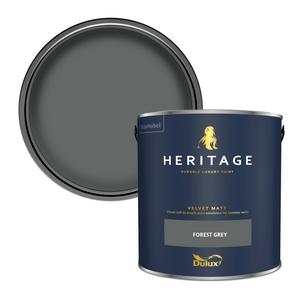 Dulux Heritage Matt Emulsion Paint - Forest Grey - 2.5L