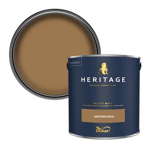Dulux Heritage Matt Emulsion Paint - Masters Gold - 2.5L
