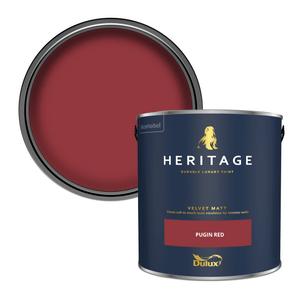 Dulux Heritage Matt Emulsion Paint - Pugin Red - 2.5L