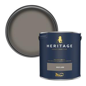 Dulux Heritage Matt Emulsion Paint - Mud Lark - 2.5L