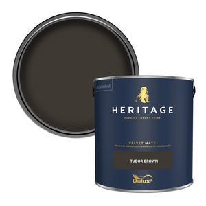Dulux Heritage Matt Emulsion Paint - Tudor Brown - 2.5L