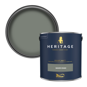 Dulux Heritage Matt Emulsion Paint - Waxed Khaki - 2.5L