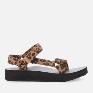 Teva Women's Midform Universal Sandals - Leopard/Black