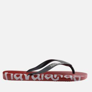 Havaianas Men's Logomania Flip Flops - Red