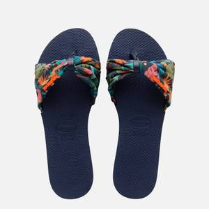 Havaianas Women's Saint Tropez Slide Sandals - Navy Blue
