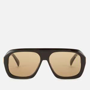 Dunhill Men's Pilot Acetate Sunglasses - Black/Brown