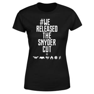 Justice League We Released The Snyder Cut Women's T-Shirt - Black