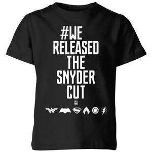 Justice League We Released The Snyder Cut Kids' T-Shirt - Black