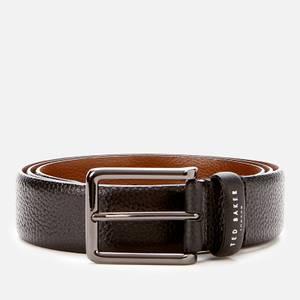 Ted Baker Men's Cokonut Pebble Grain Leather Belt - Black