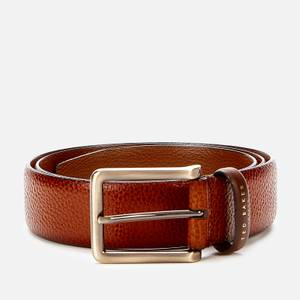Ted Baker Men's Cokonut Pebble Grain Leather Belt - Tan