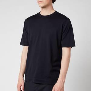 John Smedley Men's Lorca Crewneck T-Shirt - Navy