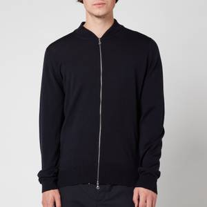 John Smedley Men's Maclean Knitted Bomber Jacket - Midnight