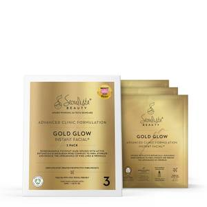 Seoulista Beauty Gold Glow Instant Facial Pack (Pack of 3)