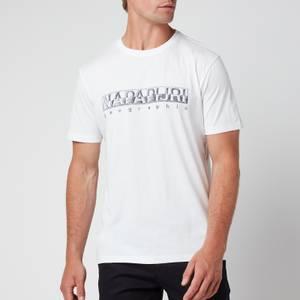 Napapijri Men's Sallar Logo T-Shirt - Bright White