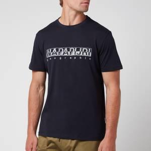 Napapijri Men's Sallar Logo T-Shirt - Blu Marine