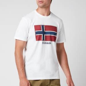 Napapijri Men's Sirol Flag T-Shirt - Bright White