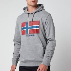 Napapijri Men's Birol Flag Hoodie - Grey Melange