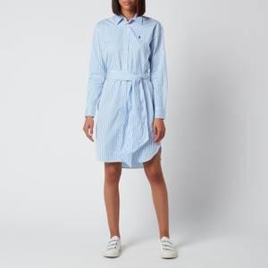 Polo Ralph Lauren Women's Long Sleeve Dress - White/Blue