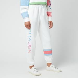 Polo Ralph Lauren Women's Ombre Polo Sport Fleece Joggers - White