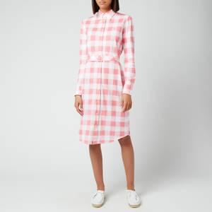 Polo Ralph Lauren Women's Heidi Shirt Dress - Ribbon Pink/White