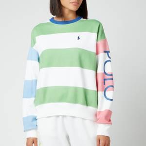 Polo Ralph Lauren Women's Striped Logo Sweatshirt - Mixed Stripe