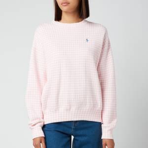 Polo Ralph Lauren Women's Gingham Jumper - Garden Pink/White