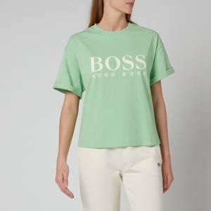 BOSS Women's C_Evina 1_Active T-Shirt - Light Emerald