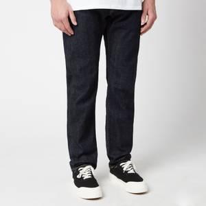 Edwin Men's Ed-55 Red Listed Selvedge Regular Tapered Jeans - Blue Rinsed