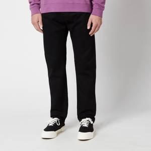 Edwin Men's Ed-55 Kaguya Selvedge Regular Tapered Jeans - Black Rinsed