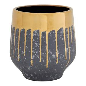 Cryus Ceramic Planter - Grey & Gold - Large