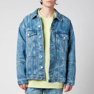 Martine Rose Men's Oversized Denim Jacket - Acid Blue Denim