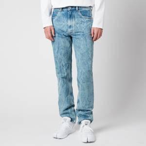 Martine Rose Men's Straight Leg Jeans - Acid Blue Denim