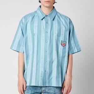 Martine Rose Men's Duel Short Sleeve Shirt - Light Blue