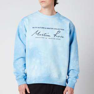 Martine Rose Men's Classic Crewneck Sweatshirt - Light Blue