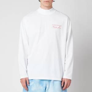 Martine Rose Men's Funnel Neck Long Sleeve T-Shirt - White