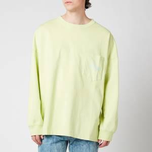 Martine Rose Men's Warung Long Sleeve T-Shirt - Green Smoke