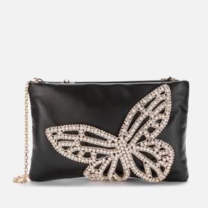 Sophia Webster Women's Flossy Crystal Clutch Bag - Black & Pearl