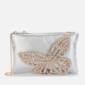 Sophia Webster Women's Flossy Crystal Clutch Bag - Silver & Pearl