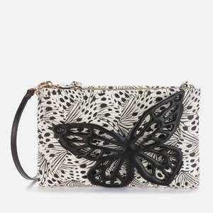Sophia Webster Women's Flossy Crystal Clutch Bag - Black & Butterfly Print