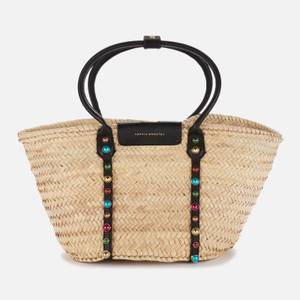 Sophia Webster Women's Dina Stud Raffia Tote Bag - Black & Multi